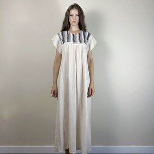 Lovely Kaftan maxi dress with knit detail.